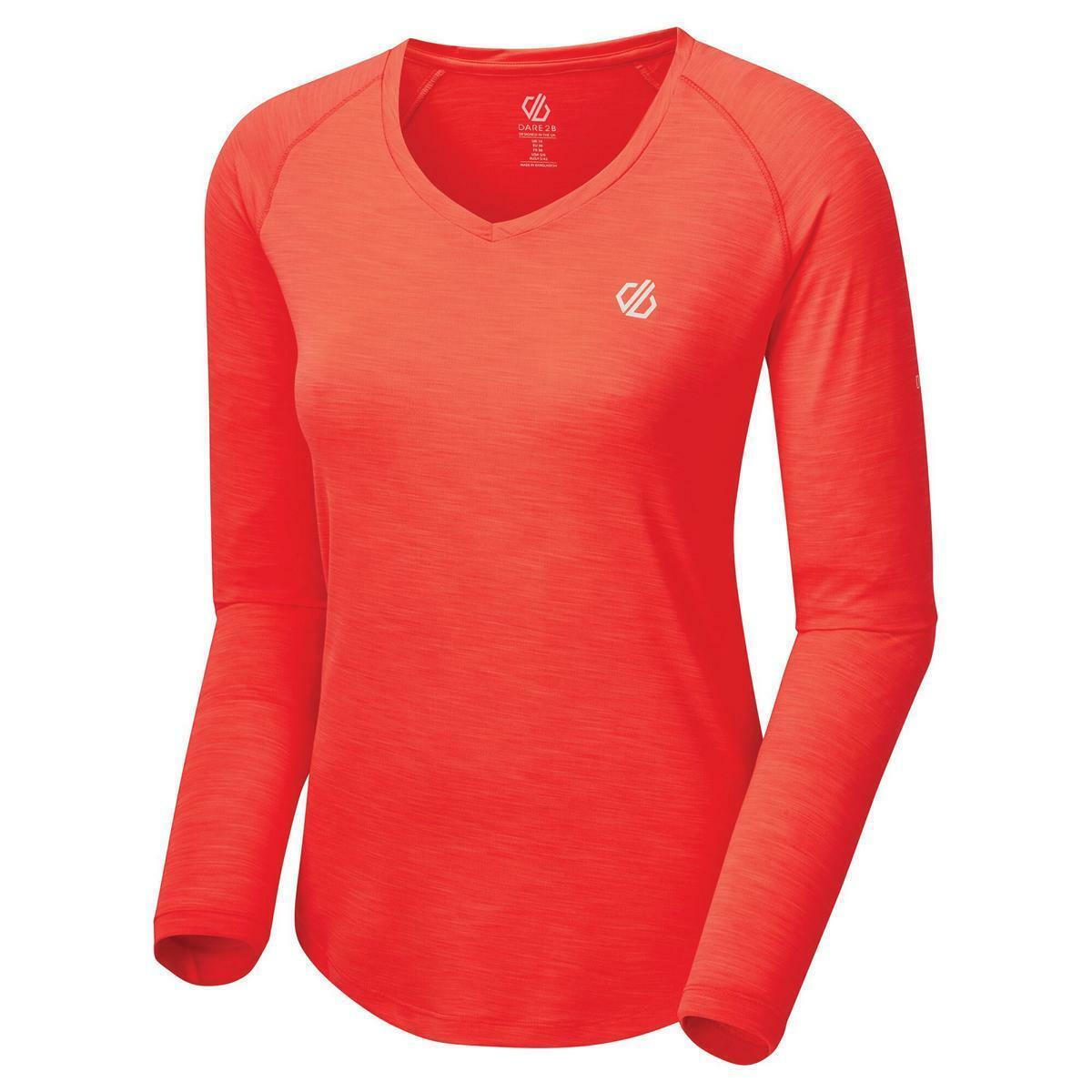 Dare2b Discern Tee Damen Langarm Funktions Shirt mit UV-Schutz geruchshemmend