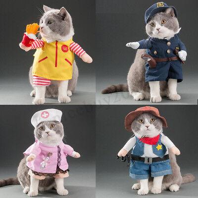 Haustier Hund Katze Kostüm Anzug Kleidung Kostüme Superhelden Polizei feiern - Super Katze Kostüm
