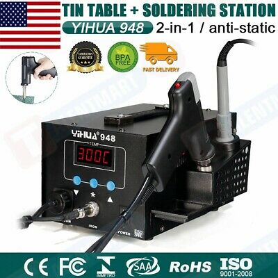Yihua 948 Esd Safe 2 In 1 80w Desoldering Station And 60w Soldering Iron Us Plug