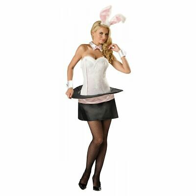 Bunny In A Hat Costume (Magic Bunny Adult Women Sexy Magician's Rabbit in a Hat Deluxe Costume Size)