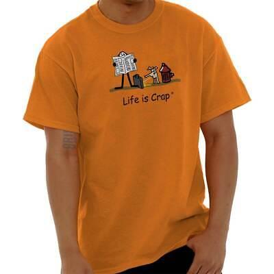 Life is Crap Dog Pee Funny Shirt Cute Sarcastic Gift Idea Classic T Shirt Tee Dog Poop T-shirt