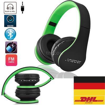 On Ear Kopfhrer Bluetooth Wireless Stereo Faltbar Headset FM TF SD für Handys PC Bluetooth-wireless-stereo