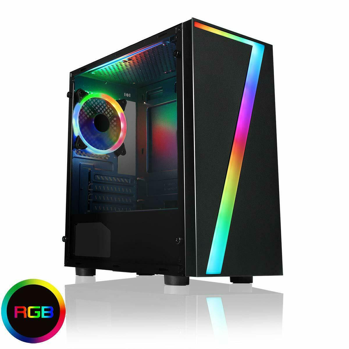 Computer Games - Ultra Fast Computer Gaming PC Tower I7 Quad Core 16GB 1TB HDD & Win 10 WIFI