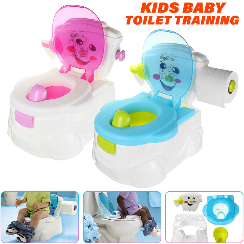 US 2In1 Kid Baby Toilet Trainer Child Toddler Potty Training Seat Chair