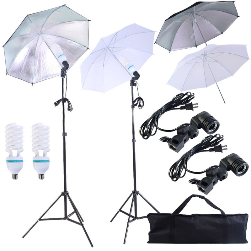 4 x 33'' Photo Studio Lighting Umbrellas Camera Video Photography Light Lamp Kit