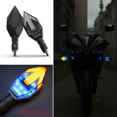 12V Motorcycle Dual Colors Turn Signals / Daytime Lamp LED Arrow Indicator Light