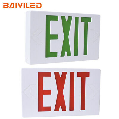 Standard Led Emergency Exit Sign Light With Battery Back-up Ul 924 Certified