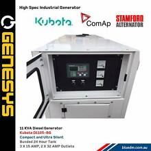 KUBOTA GENESYS  11KVA 415V - Ultra Silent Generator - Prime Power Kewdale Belmont Area Preview