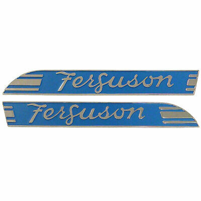 Blue Side Emblem Te20 Tea20 To20 Pair Both Sides Chrome Massey Ferguson 066