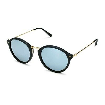 Kapten & Son Maui Matt Black Blue Mirrored Sunglasses