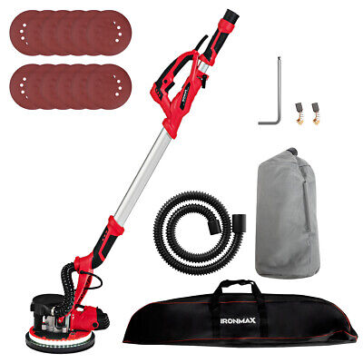 Ironmax Electric Drywall Sander 750w Variable Speed Wautomatic Vacuum Led Light
