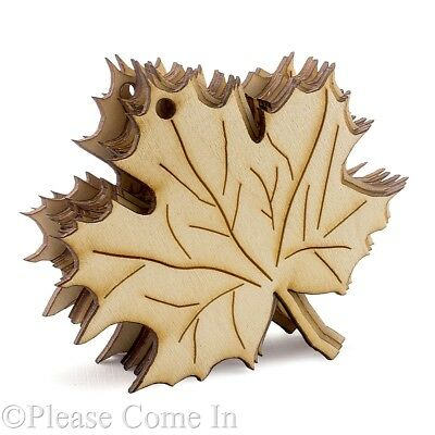 20 Wooden Maple Leaves Laser Cutout Holiday Fall Theme Decoration](Fall Themed Decorations)