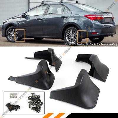 4 Pcs Front   Rear Splash Guard Mud Flaps For 2014 2015 2016 2017 Toyota Corolla