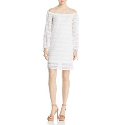 MICHAEL Michael Kors Womens White Off The Shoulder Cocktail Dress XS BHFO 4958