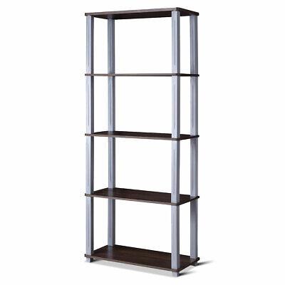 5-Tier Rack Multi-Purpose Shelves Storage Display Bookshelf