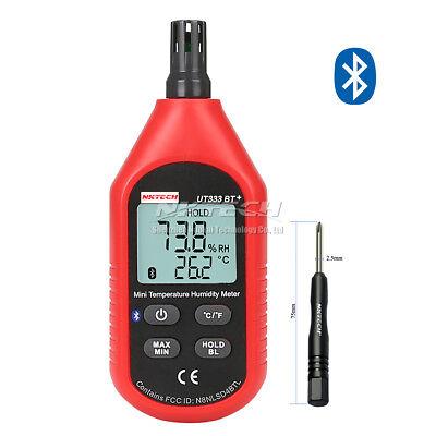 NKTECH UT333BT+ Bluetooth LCD Digitale Air Temperature Umidità Meter Termometro