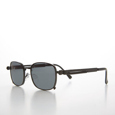 Tailored Black Sunglass with Industrial Temples and Gray Lens - (Tyga Sunglasses)