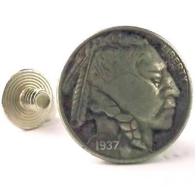 Nickel Indian Head Screw Back Concho 7093-11