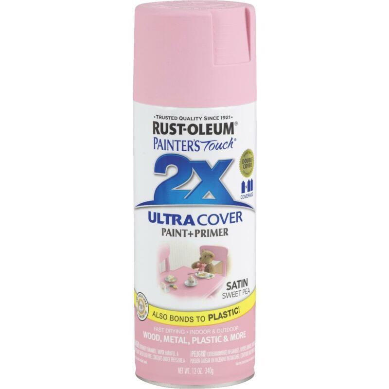 Part 249063,Rust-Oleum,Painters Touch 2X, 12 OZ, Satin, Sweet Pea, Spray Paint,