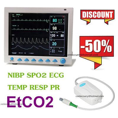 Cefda Cms8000 With Etco2 Capnograph Vital Signs 7-parameter Patient Monitor