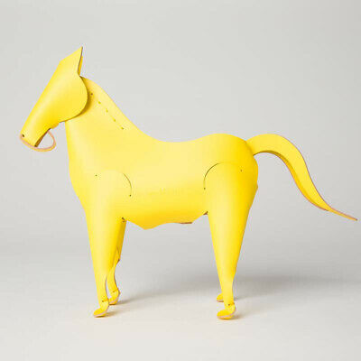 Amigos Horse Yellow Leather Desk Organizer Office Home Decor By Vacavaliente