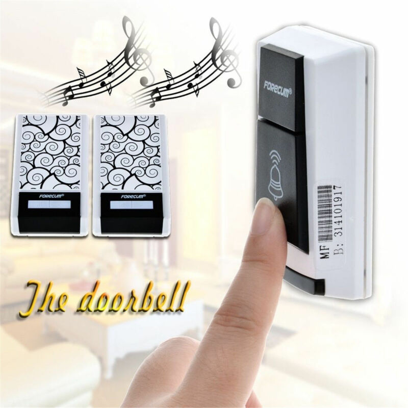 36 Chimes Songs Waterproof Wireless Doorbell Remote Control 2 Receiver Door bell