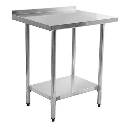 24 X 30 Stainless Steel Work Prep Table With Backsplash Kitchen Restaurant New