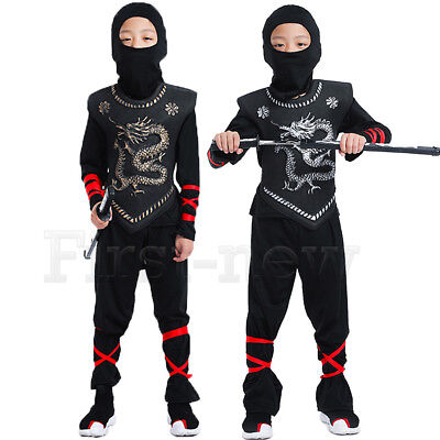 Assassin Costumes For Kids (For Naruto Ninjago Cosplay Costume Superhero Boys Halloween Samurai Assassin)
