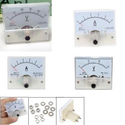 Analog Panel Amp Meter Voltmeter Gauge 85c1 Gb7676 Dc 0-30v50v 0-5a10a St536