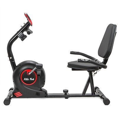 Home gym cardio resistance Magnetic Recumbent stationary Bike fitness Exercise