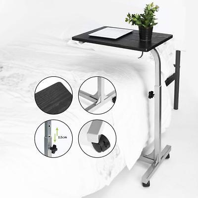 Over The Bed Hospital Wheelchair Tray W Wheels Adjustable Bedside Medical Table