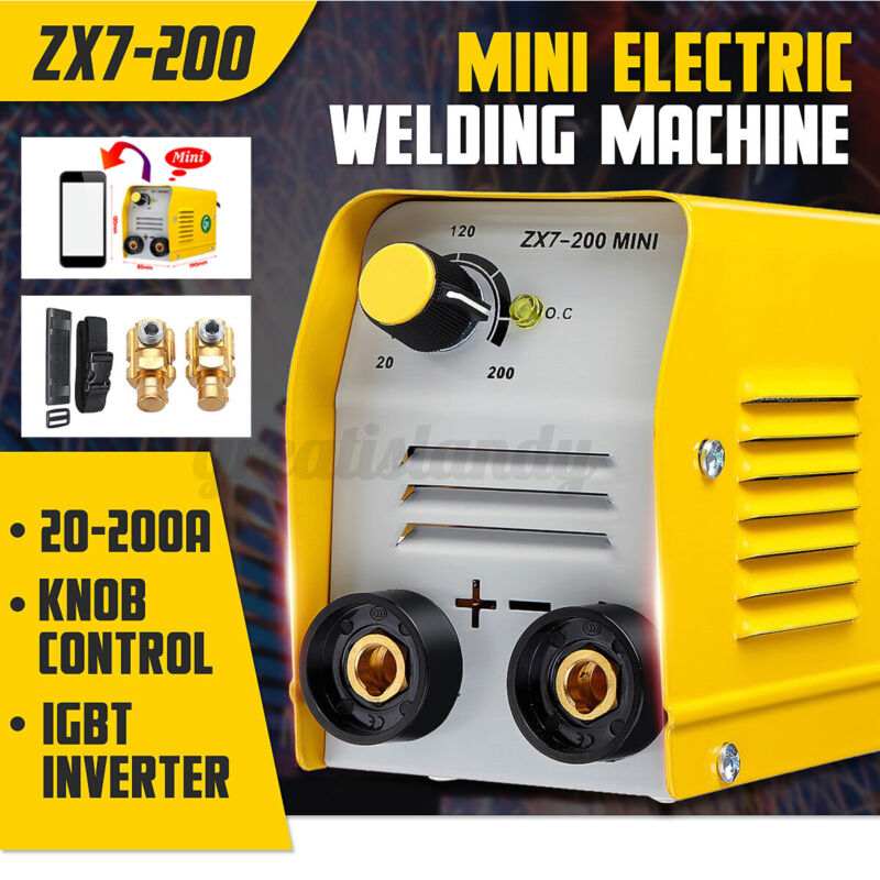 US 110V 200A Mini Electric Welding Welder Machine IGBT DC Inverter ARC MMA Stick