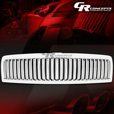 CHROME ABS FRONT BUMPER VERTICAL GRILLE/GRILL GUARD FOR 94-02 DODGE RAM BR/BE Br Chrome Grille Grill
