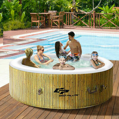6 Person Inflatable Hot Tub Outdoor Jets Portable Heated Bubble Massage Spa New Bubble Spa Hot Tub
