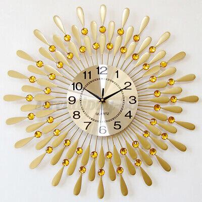 Large Modern Wall Clock Luxury Peacock 3D Big Metal Watch Modern Exquisite Decor