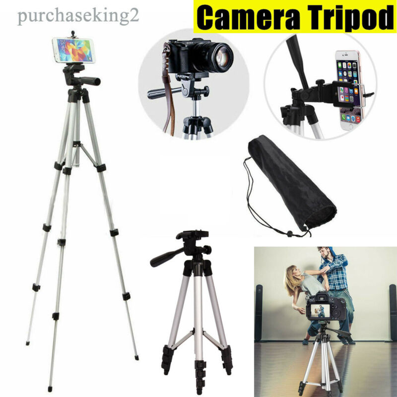 Portable Camera Tripod Digital Camcorder Video Stand Holder For Canon Nikon DSLR