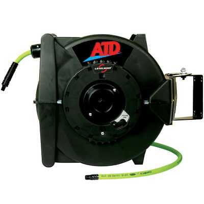 ATD Tools 31163 Levelwind Retractable Air Hose Reel w/60' Flexzilla Hose