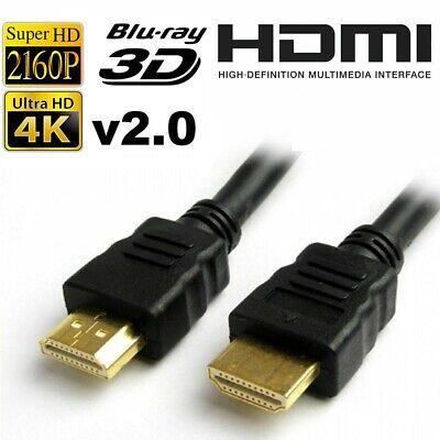 GOLD 1080P HDMI CABLE LEAD SMART HD TV HDTV 3D METRE 1M 2M 3M 5M 7M 10M Uk 1080p Smart Hdtv