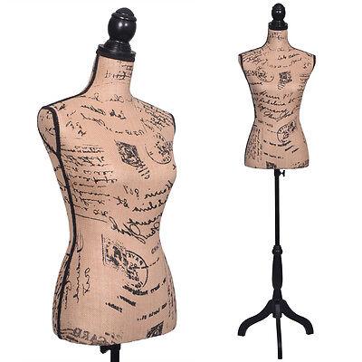 Female Mannequin Torso Clothing Dress Form Display W/ Black Tripod Stand New