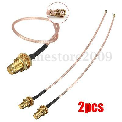 2Pcs 5 9  Rg178 Rp Sma To Ufl U Fl Ipx Ipex Rf Female Adapter Extension Cable