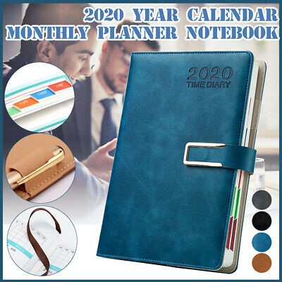 2020 A5 Notebook Planner Diary Monthly Weekly Scheduler Study Work Plan Book Hot