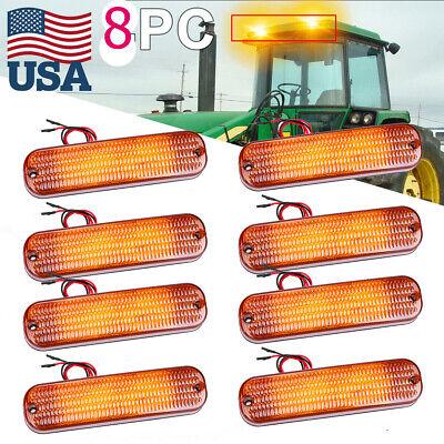 8 Ar60250 Amber Warning Led Upper Cab Light For John Deere 820 850 870 900hc