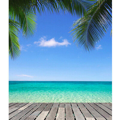 3X5Ft Blue Sky Beach Tree Backdrop Photography Background For Studio Photo Prop (Sky Backdrop)