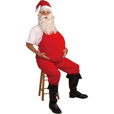 Santa Belly Stuffer Adult Pregnant Costume Christmas Halloween Fancy Dress