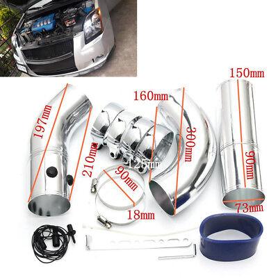 5Pcs 3Car SUV Air Filter Turbo Intake Intercooler Piping ColdHot Pipe Hose Set