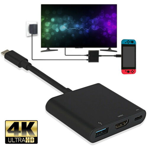 1080P 4K HDMI Adapter for Nintendo Switch USBC HDMI Converte