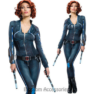 CL604 Deluxe Ladies Black Widow Avengers 2 Age of Ultron Fancy Dress Up Costume ()