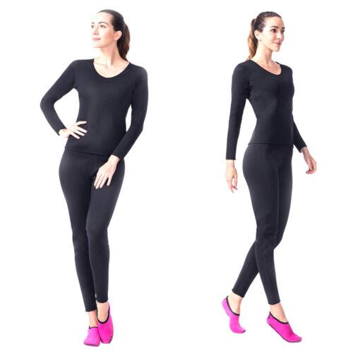 Womens Neoprene Sauna Suit 2-Piece Shaper Sweat Weight Loss