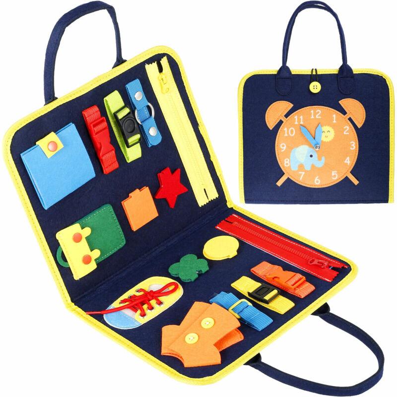 Kleinkind Busy Board Montessori Grundfertigkeiten Sensorisches Lernspielzeug