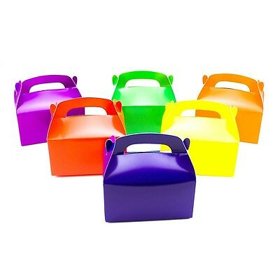 12 Assorted Bright Color Treat Boxes Birthday Party Favors Baby Shower Favor Box - Boxing Party Favors